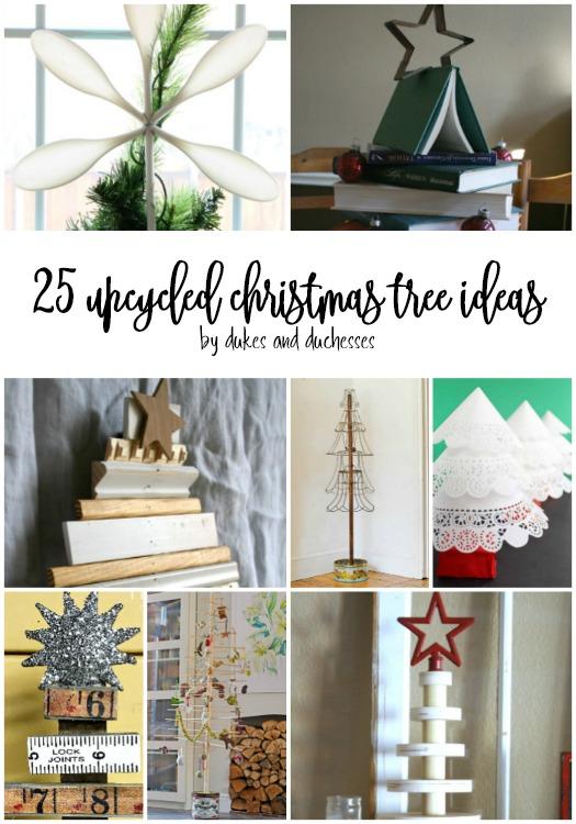 25 upcycled christmas tree ideas