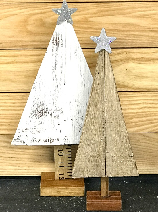 Christmas trees with rulers