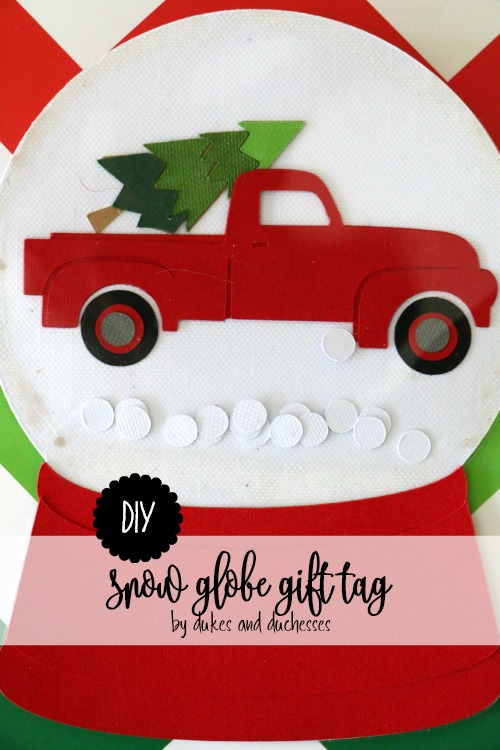 DIY snow globe gift tag