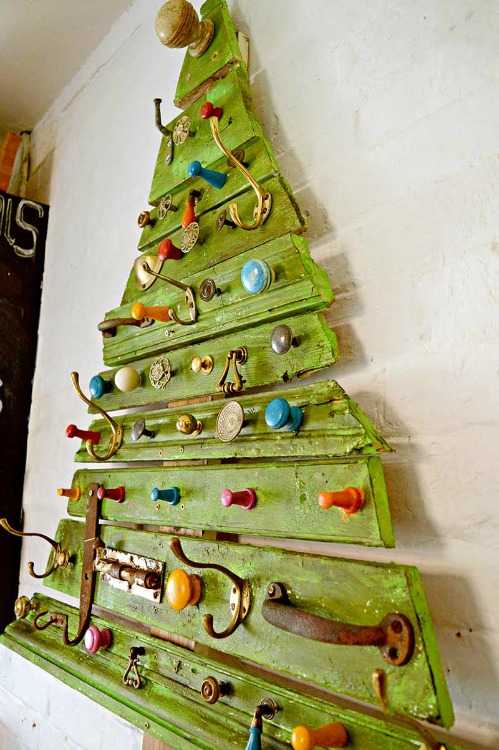 Upcycled DIY wooden Christmas tree