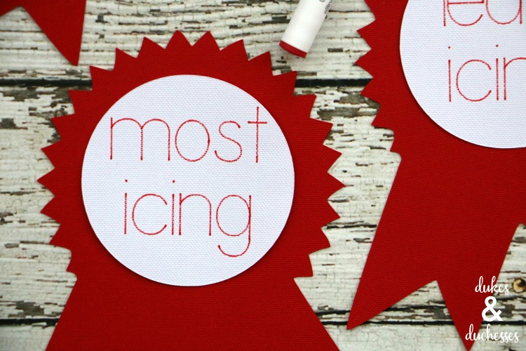 cookie decorating awards made with cricut