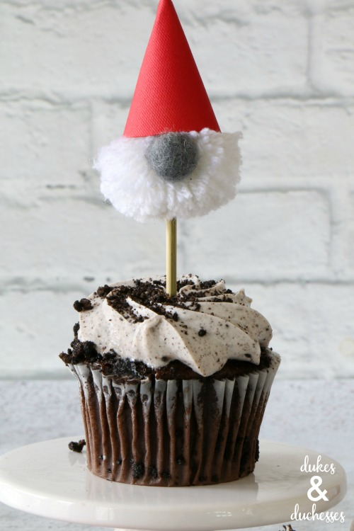 easy gnome cupcake toppers