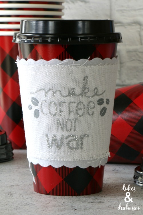 glitter coffee cuff gift idea