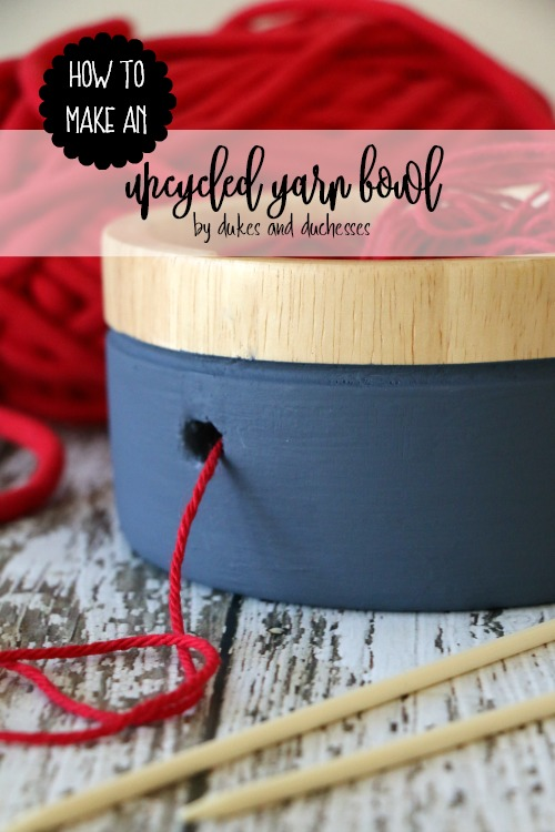 how to make an upcycled yarn bowl