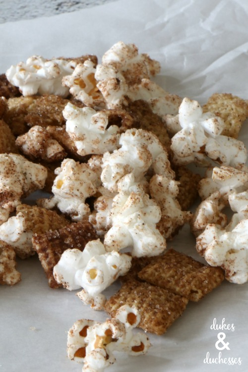 how to make snickerdoodle chex mix