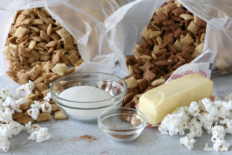 ingredients for snickerdoodle chex mix