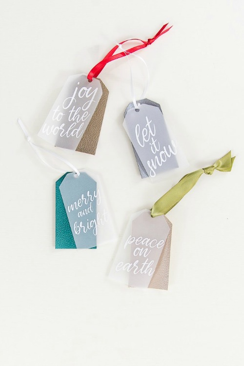 layered holiday gift tags