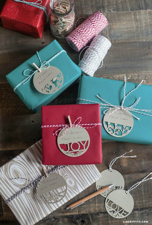 paper cut gift tags