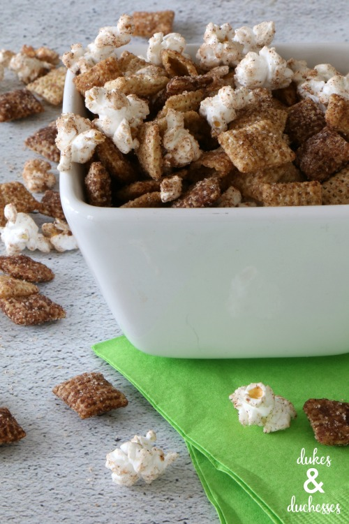 snickerdoodle chex mix gift idea