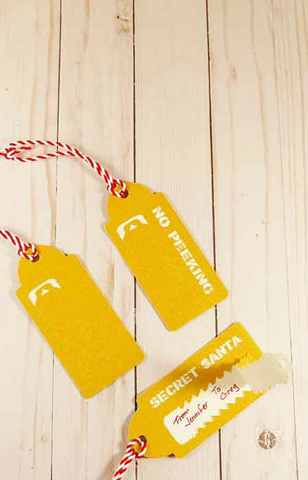 tear away gift tags