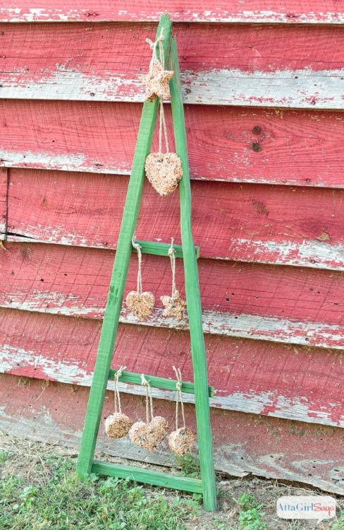 tobacco stick christmas tree bird feeder