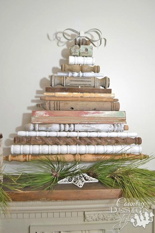 vintage spindle christmas tree