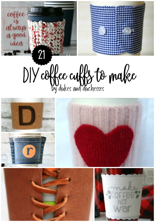 21 DIY coffee cuffs to make
