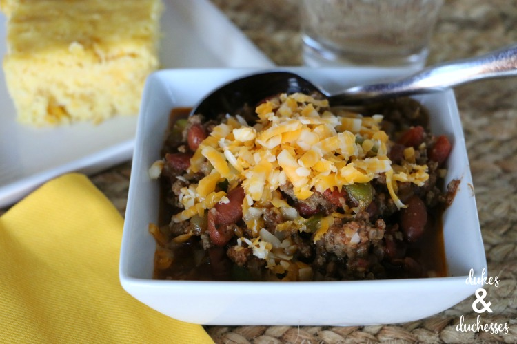 easy chili recipe comfort food