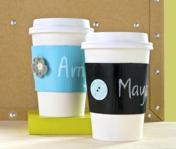 recycled chalkboard coffee sleeve