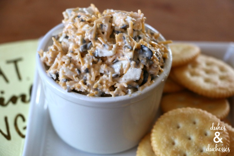 easy olive cheese spread appetizer