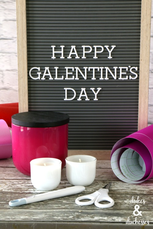 galentines day candle gift idea
