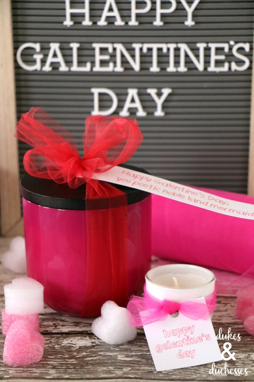 galentines day candle gift