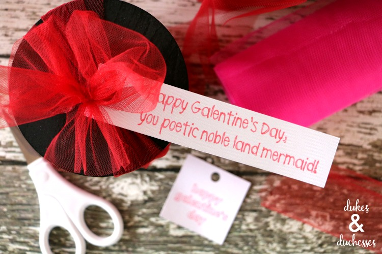 galentines day gift tag for candles