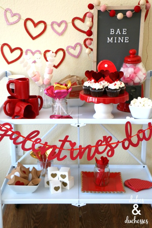 galentines day hot cocoa bar ideas