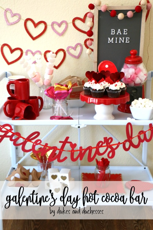 galentines day hot cocoa bar