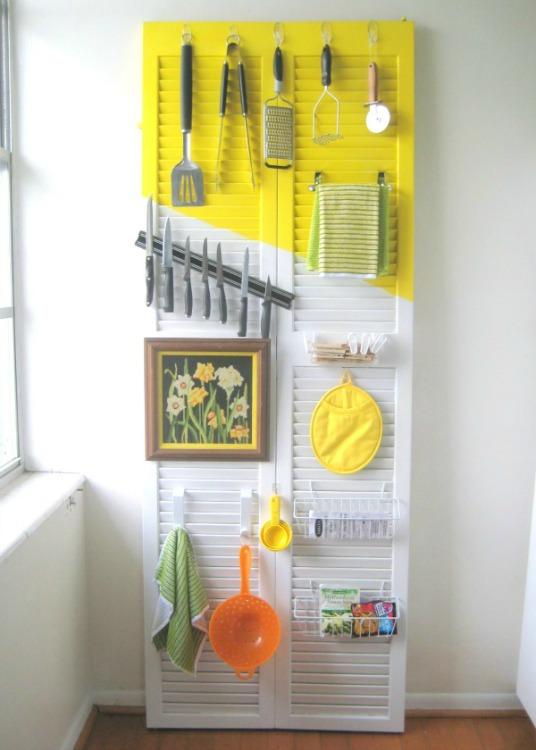 shutter kitchen organizer