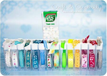 tic tac box ribbon organizer