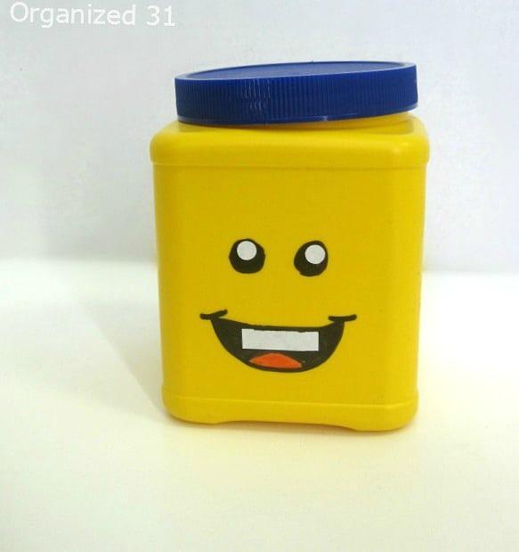 upcycled lego container lego storage
