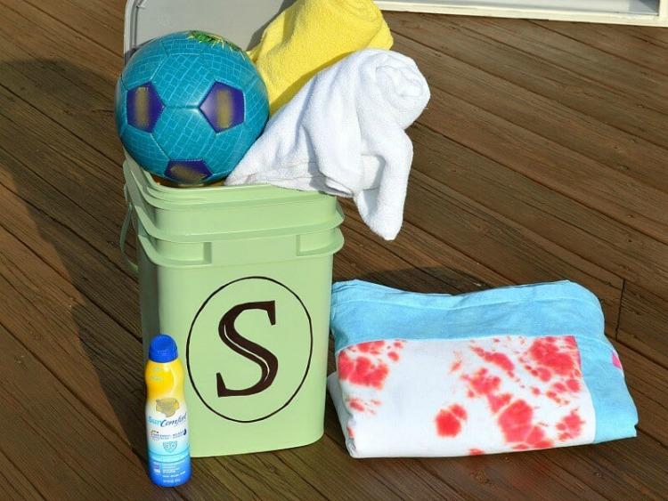 upcycled pool storage ideas