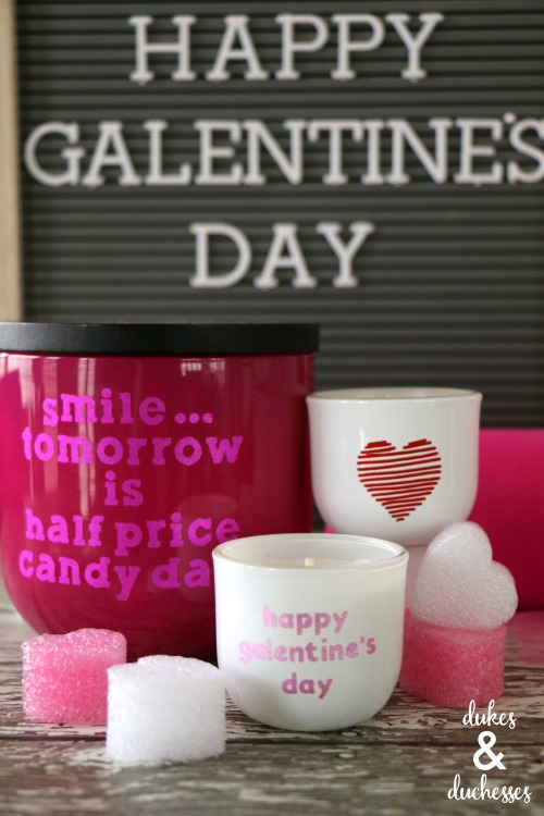 valentines day candle gift idea