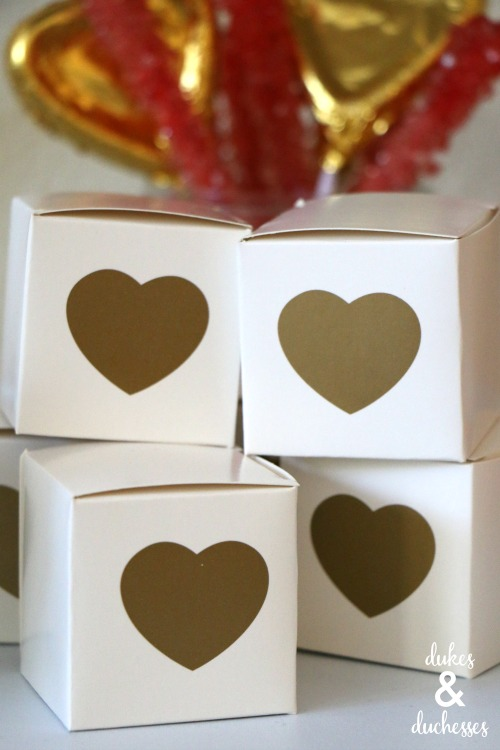 valentines day or wedding favor gift boxes
