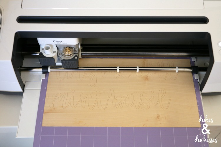 how to cut wood veneer with the cricut maker