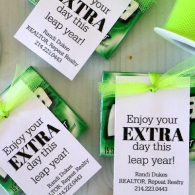 Leap Year Gift Idea and Printable