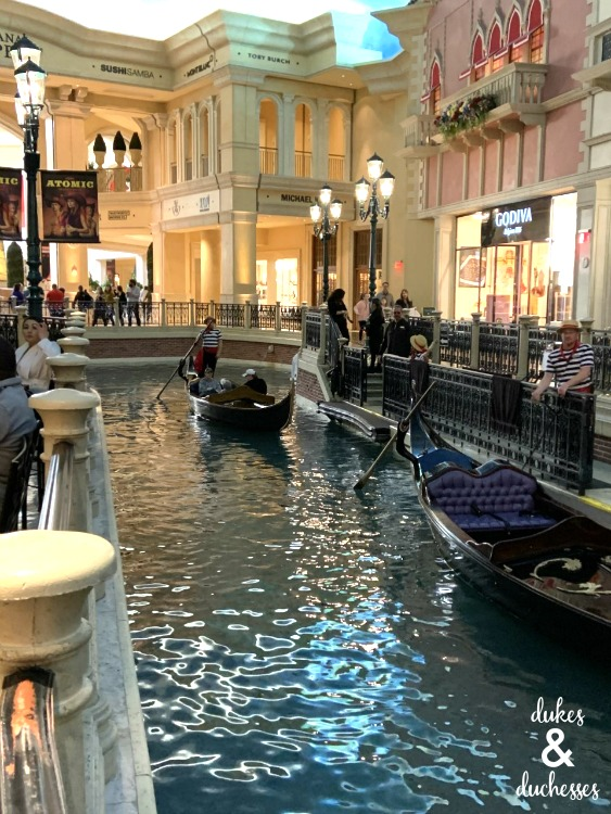 the canal at the venetian in las vegas