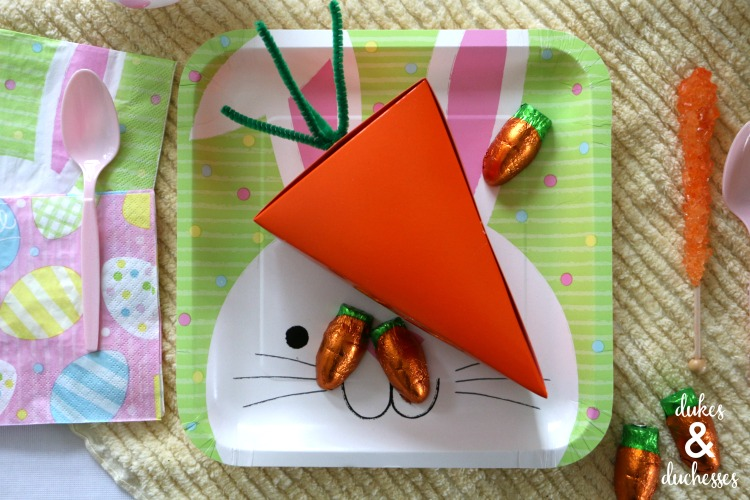carrot pie box easter party favor idea