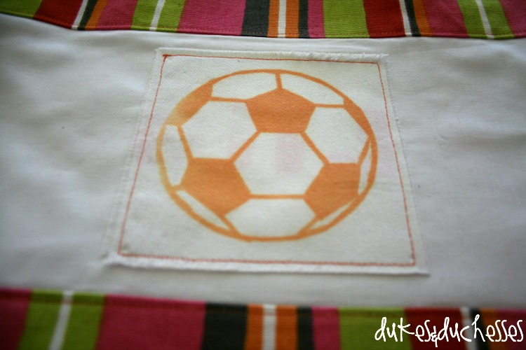 customized soccer bag