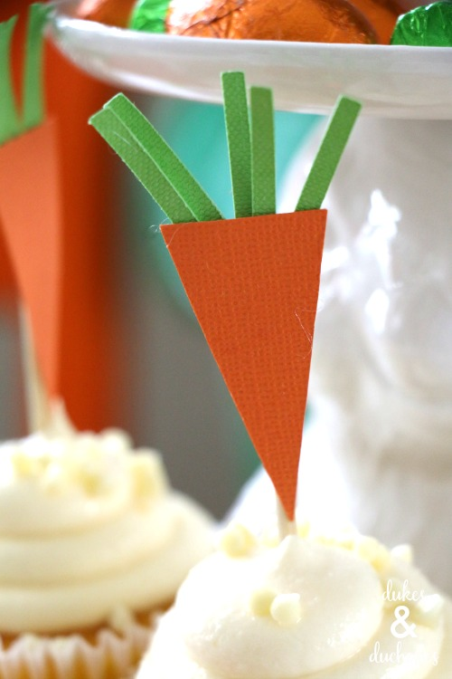 easter carrot cupcake toppers