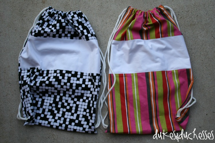how to make a drawstring bag for soccer