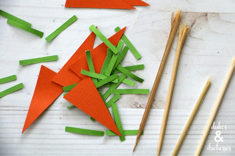how to make carrot cupcake toppers