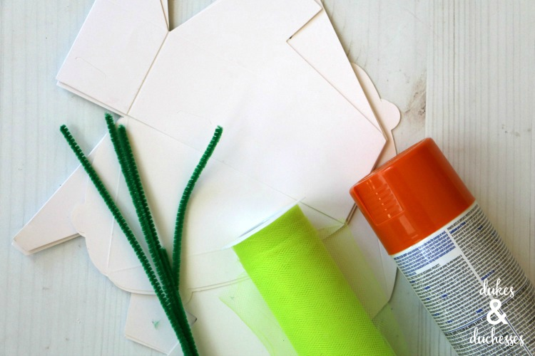 how to make carrot party favor boxes