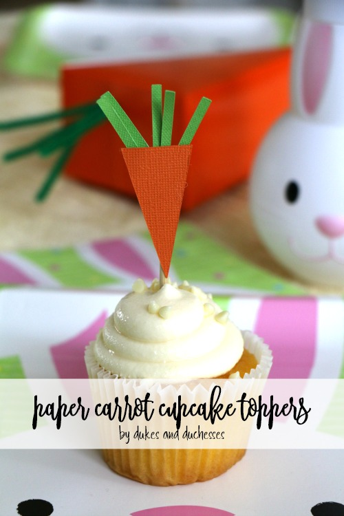 paper carrot cupcake toppers