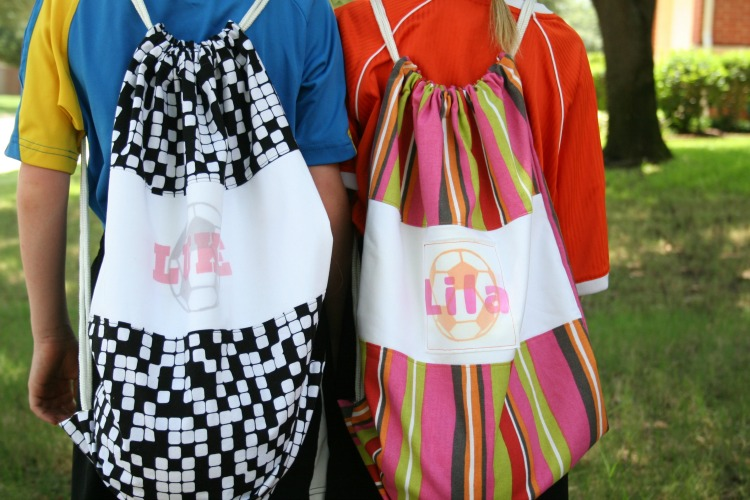 personalized DIY soccer bags for kids