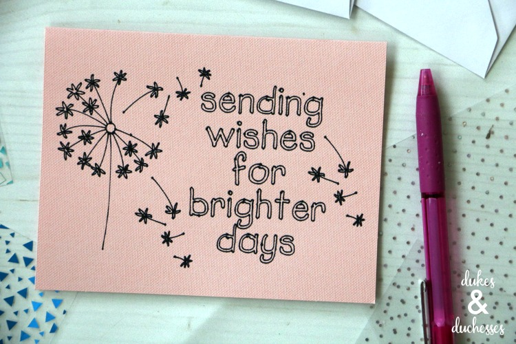 brighter days encouragement card for nursing home residents