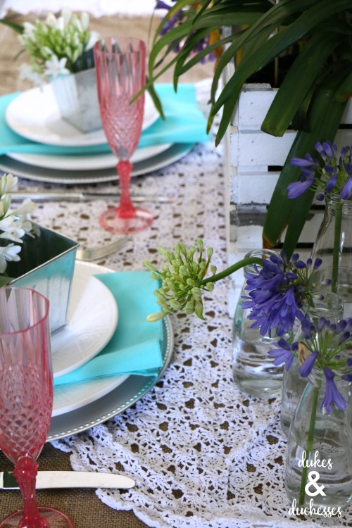colorful spring tablescape ideas