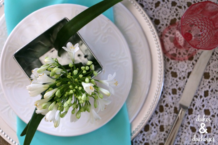 floral place card idea