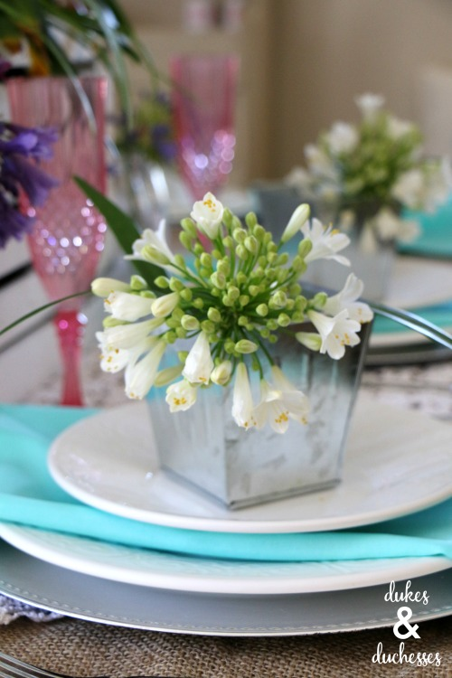 flower place settings for spring
