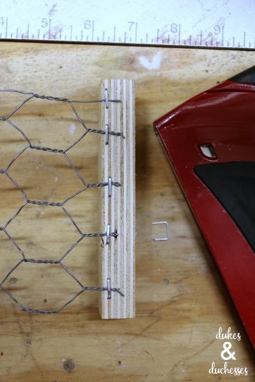 chicken wire suet feeder