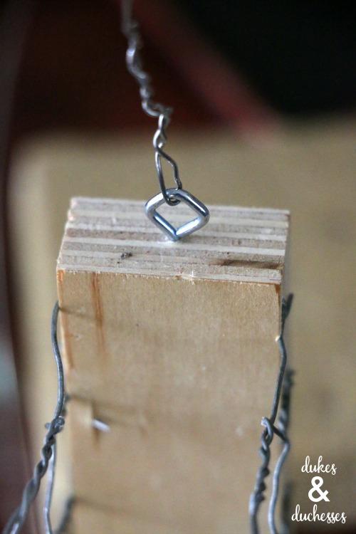 how to hang a suet feeder