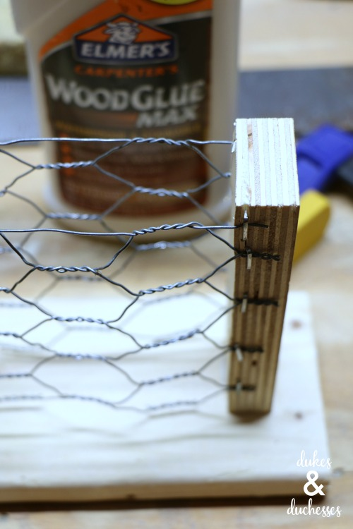how to make a suet feeder with chicken wire
