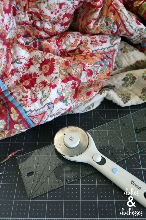 how to upcycle an old quilt